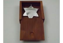POSREBRZANA 6-RAMIENNA GWIAZDA SZERYFA DENIX MODEL 9101