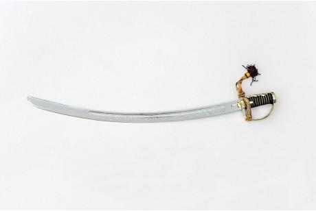 CHROMOWANA REPLIKA SZABLA POLSKA 1750r Z OBUSTRONNYM GRAWEREM NR 1750 OG